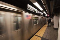 纽约地铁 库存照片