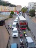 离开直布罗陀的交通 免版税库存图片