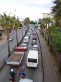离开直布罗陀的交通 库存照片