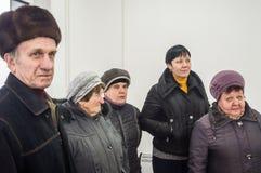 开头第一在火车站` Matlievska `的俄罗斯模件候诊室在卡卢加州地区 免版税库存图片
