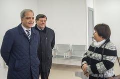 开头第一在火车站` Matlievska `的俄罗斯模件候诊室在卡卢加州地区 库存照片