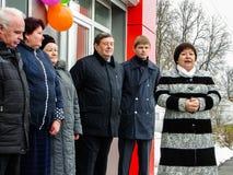开头第一在火车站` Matlievska `的俄罗斯模件候诊室在卡卢加州地区 库存图片