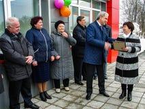 开头第一在火车站` Matlievska `的俄罗斯模件候诊室在卡卢加州地区 免版税库存照片