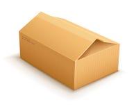 开头纸板交付小包包装的箱子 库存照片