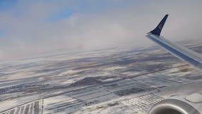 离开从阿斯塔纳国际机场的飞机 影视素材