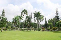 异乎寻常的巴厘语庭院 库存照片