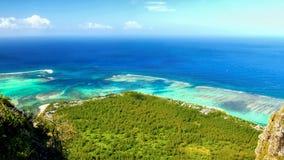异乎寻常的毛里求斯海岛,风景看法 免版税库存图片