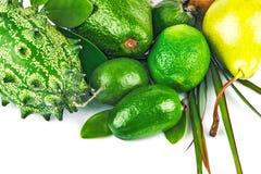 异乎寻常的热带水果和蔬菜 图库摄影