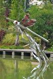 异乎寻常的花,植物,树,在新加坡里面的雕塑由海湾从事园艺 免版税图库摄影