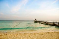 异乎寻常的天堂 旅行、旅游业和假期的概念 一种热带手段在加勒比 库存照片