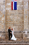 异乎寻常的婚礼 免版税库存照片