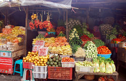 异乎寻常的果子街市,巴厘岛,印度尼西亚 库存图片