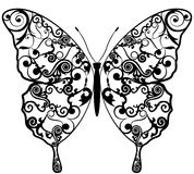 异乎寻常的蝴蝶摘要样式。 向量例证