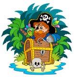 异常分支小海岛的海盗 库存例证