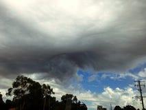 异常的云彩形成 库存照片