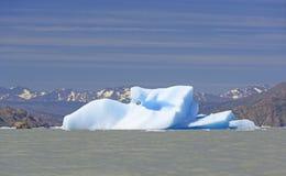 异常的冰山在一个冰河湖 图库摄影
