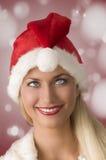 异常的圣诞节妇女 库存图片