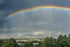 异常的多条彩虹 库存图片
