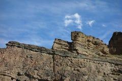 异常的岩层在怀俄明 免版税图库摄影