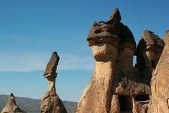 异常的岩石在卡帕多细亚,土耳其 库存照片