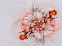 异常的花-摘要数位引起的图象 库存照片