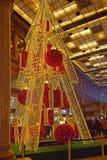 异常的装饰圣诞树在罗马 库存照片