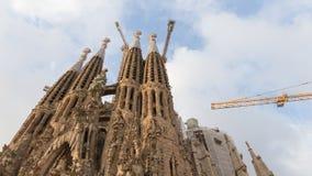 异常的Sagrada Familia在巴塞罗那 免版税库存图片
