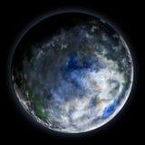 异常蓝色的行星 库存图片