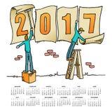 异想天开的图画2017日历 库存例证