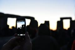 异教徒在巨石阵标记秋天昼夜平分点 图库摄影