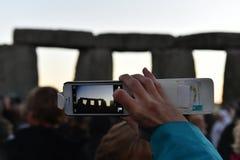 异教徒在巨石阵标记秋天昼夜平分点 免版税库存图片