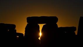 异教徒在巨石阵标记秋天昼夜平分点 免版税图库摄影