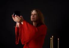 异教的妇女 免版税库存照片