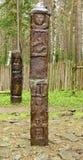 异教的神象纪念碑Zbruch 库存图片