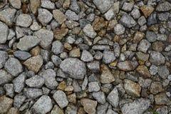 弄湿铁路石碴被击碎的石头  免版税图库摄影