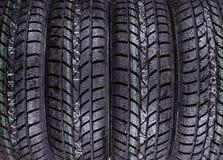 弄湿,冬天轮胎纹理 免版税库存照片