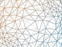 弄皱的multiplayered三角低多样式几何样式纹理摘要传染媒介例证图表背景 图库摄影