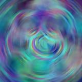 弄脏与圈子旋转元素的抽象背景在蓝色,紫色,绿松石,红色 免版税图库摄影