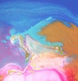 弄脏五颜六色 抽象背景 背景可能使使用的纹理有大理石花纹 丙烯酸酯的col 库存图片