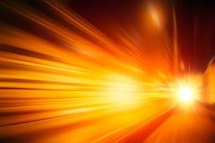 弄脏快速的移动喂速度光线影响摘要 库存照片