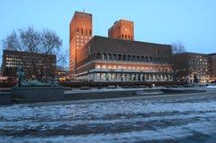 仪式市政厅诺贝尔奥斯陆和平安排奖 免版税库存照片