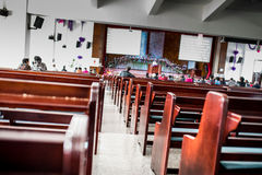 仪式教会礼拜式婚礼 免版税库存照片