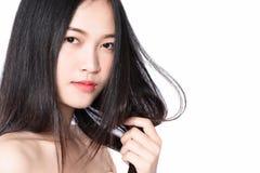 式样举行的头发 免版税图库摄影