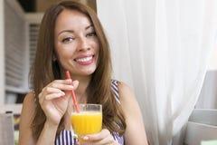 式样享用的鲜美橙汁 免版税库存图片