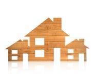 式样图的房子木形式 库存照片