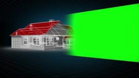 式样房子蒙太奇有色度钥匙空间的 库存例证