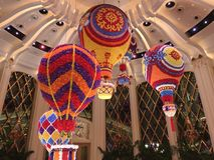 式样热空气轻快优雅在Wynn宫殿,澳门 库存照片