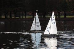 式样赛跑的游艇 库存图片