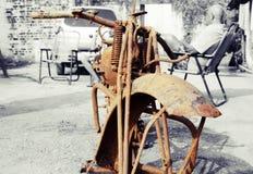 1925式样道格拉斯摩托车的遗骸 免版税库存图片