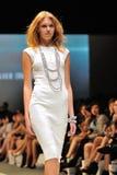 式样陈列从与珠宝题材王国的施华洛世奇设计在奥迪时尚节日2012年 免版税库存照片